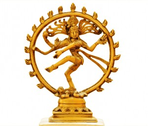 Dancing Shiva on white background